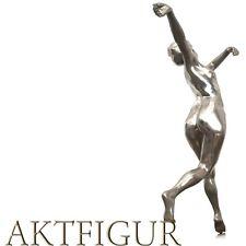 Jugendstil Figur Akt Tänzerin Metall silbern gemarkt Metallfigur antik