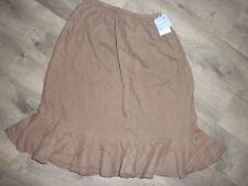 NWT Ladies Cute Brown Skirt, Cool Linen, Fresh Produce, L