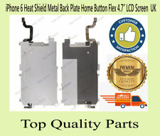 """iPhone 6 Heat Shield Metal Back Plate Home Button Flex 4.7"""" LCD Replacement UK"""