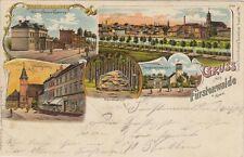 37453 - Litho Gruss aus Fürstenwalde mit Marktplatz im Landkreis Oder-Spree 1903