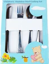 Childrens Cutlery Set Stainless Steel Kids Fork Spoon Dishwasher Safe Polished