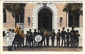 F99/ St Petersburg Florida Postcard Jenkin's Orphanage Band Black Americana