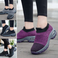 Women Walking Shoes Sock Sneakers Super Soft Height Increase Outdoor Dance Shoes