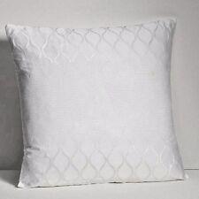 "Hudson Park Ogee Decorative Pillow 18"" x18"" White $95 New"