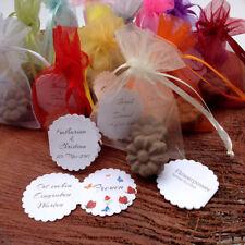 50x PERSONALISIERT Gastgeschenke Hochzeit Giveaway BIO Samenbomben Seedbombs Öko