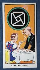 Magic  Squares and Triangles Trick   Superb Vintage Card