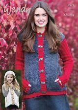 Wendy Jacket and Gilet Knitting Leaflet 5973 in Wendy Eider Yarn
