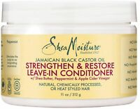 Shea Moisture Jamaican Black Castor Oil Leave-In Conditioner 11 oz 3pk