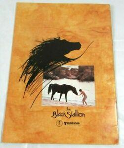 The Black Stallion 1980 Original Japanese Movie Program Mickey Rooney Kelly Reno