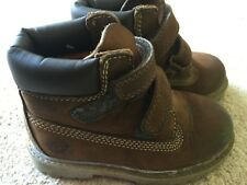 Toddler Childrens Kids Brown Timberland Velcro Boots UK 7