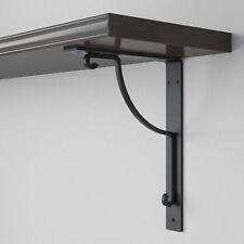 2 IKEA EKBY HALL Metal Decorative Wall Mount Bracket Black Discontinued NEW