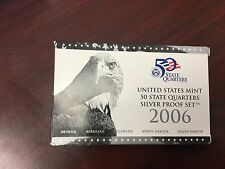 2006 Silver quarter proof set with box and papers