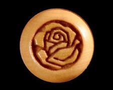 Bridge Pins for Guitar, Boxwood, Engraved Rose