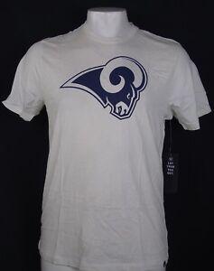 Los Angeles Rams Men's 47 Brand NFL Short Sleeve Logo T-Shirt White S - XXL
