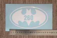 3 x Wheelie Bin Numbers Batman House Number Sticker Oval Circle