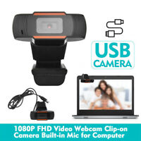 USB 2.0 Webcam Stand Kamera 1080P HD Camera Mit Mikrofon für Desktop Laptop PC