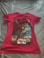 Disney Store The Force Awakens Limited Release T-Shirt Women's Large~Slim-Fit