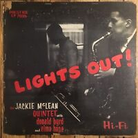 JACKIE MCLEAN QUINTET Lights Out! LP on Prestige 50th St DG mono RVG donald byrd
