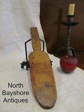 Antique 1700s New England Large Colonial Tiger Maple Dough Butter Paddle aafa