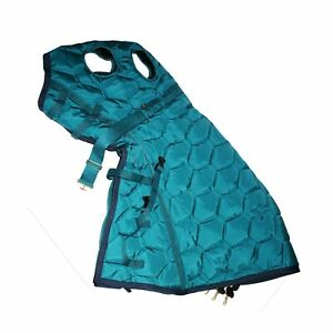 XL BIG D All American Insulated Horse Stable Hood Teal/Navy Trim (New Old Stock)