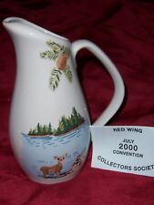 RED WING COLLECTORS SOCIETY COMMEMORATIVE MINIATURE PITCHER, 2000 CONVENTION