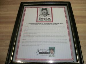 Phillies Mike Schmidt Michael Jack Tribute Poster Print With Lou Gehrig Stamp