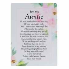 Widdop & Co. Graveside Cards Memorial-Auntie TY202