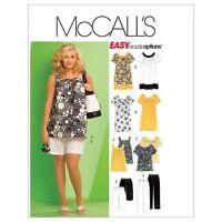 McCalls Patterns M5640 Size RR 18W-20W-22W-24W Womens Tops, Dresses, Shorts an