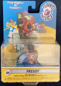 FUNKO RACERS 5 Nights at Freddy's #05 FREDDY in MICROPHONE DIECAST VEHICLE New!
