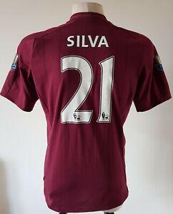Manchester City2012 - 2013 Away football Umbro shirt#21 Silva