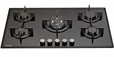 Millar Gh9051Pb 5 Burner Built-in Gas on Glass Hob 90cm