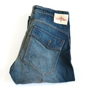 Troy Lee Designs Jeans 34 Semi Distressed Riding Lined Denim Motorcycle New USA