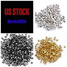 600 pcs Bead Buddy Silver Plated Gold Brass Copper 2mm Crimp Tubes Combo Jewelry