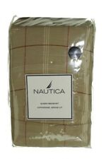 Nautica Queen Bedskirt Beige and Rose Plaid New