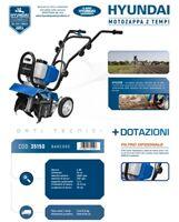 Motozappa Motocoltivatore 2 Tempi Miscela Scoppio Hyundai 35150 52 cc