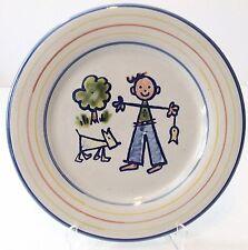 Louisville Stoneware Boy Dog Plate Dish