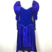 Vintage 90s Made in the USA Prom / Showgirl Dress Costume Halloween Theatre