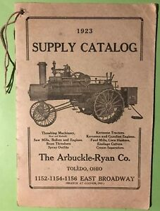 1923 Supply Catalog No. 17 The Arbuckle Ryan Co. Gas Engine Book Hit Miss
