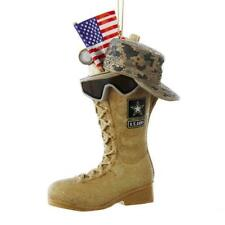 Kurt Adler United States USA Army Boot With Flag and Icons Ornament, AM2163