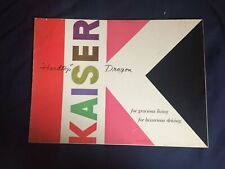 1953 Kaiser Dragon Color Brochure Catalog Prospekt