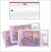 100 Lindner 893LP Schutzhüllen 80x140mm Für 0 Euroscheine Souvenirscheine