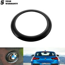 Black Rear Badge Logo Ring Covers Decoration For BMW 1 Series F20/F21 2011-2019