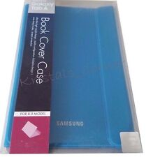 """NEW Genuine Samsung Galaxy Tab A 8"""" Slim Book Cover Case w/ Angled Viewing Blue"""