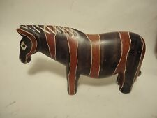 Soap Stone Horse Figurine African Safari Paperweight Hand Carved in Kenya
