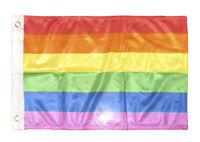 12x18 12''x18'' Rainbow Gay Pride stripes rough tex knitted boat flag banner