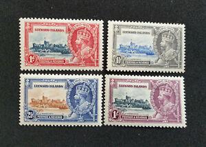 LEEWARD ISLANDS GV SG88-91, SILVER JUBILEE set, LH MINT. Cat £35.  (CA76)