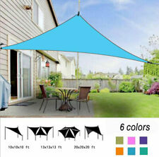 Triangle Sun Shade Sail Outdoor Yard Garden Patio Top Cover 6 Colors Waterproof