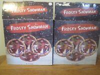 "CERTIFIED INTERNATIONAL FROSTY SNOWMAN DESSERT PLATE 8"" SUSAN WINGET SET OF 8"