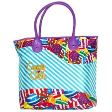 Candy Crush Blue Stripe Tote Bag - 16 Inches x 13 Inches