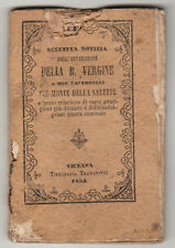 Libro antico Nostra Signora di La Salette 1853. Tipografia Tramontini. Vicenza